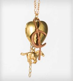 Brass Horse & Heart Locket | Jewelry Necklaces | J. Topolski | Scoutmob Shoppe | Product Detail