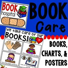Teach your students how to take care of books. This mini unit includes posters (for little learners and readers), anchor chart, book hospital posters, and a read aloud.