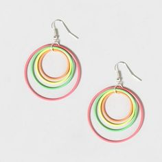 Neon Hoop Earrings - Claire's