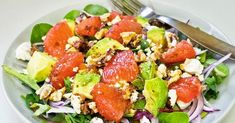 Salad with Pink Grapefruit & Avocado