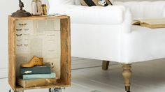 How to create a side table from an old crate - photographed by Craig Wall styled by Marie Nichols  http://www.homelife.com.au/decorating/living+dining/how+to+create+a+side+table+from+an+old+crate,5579