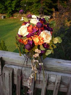 Brides bouquet for a beautiful October wedding....hmm....now I'm wanting a fall wedding again!!
