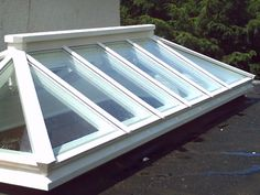 Exterior of a rectangular shaped roof lantern with an aperture measuring 3000mm x 1200mm. & Square shaped roof lantern with an aperture of 1200mm x1200mm ... memphite.com