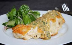 Roasted chicken breasts with creamy herb sauce from www.chelseawinter.co.nz