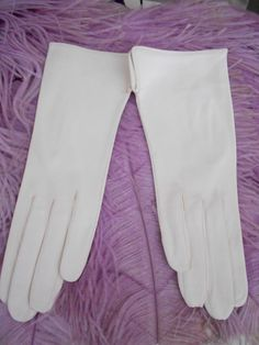 1960's Short White Leather Gloves by missolives14 on Etsy