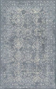 Albery GL03 Hand Tufted Wool Floral Ogee Damask Rug