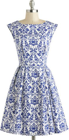 ModCloth Be Outside Dress in Delft - Lyst