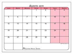 Calendario Agosto 2019 Da Stampare Gratis.Las 580 Mejores Imagenes De Calendario En 2019 Calendario