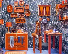 zim & zou craft the fox's den with paper for hermes barcelona store