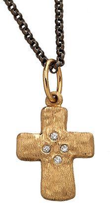 Erica Molinari Gold and Diamond Cross Pendant Necklace