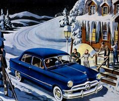 1950 Ford In The Snow