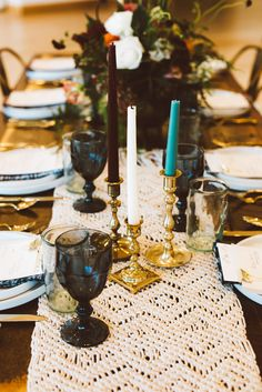 Bohemian Fall Inspired Table Setting   Wedding Decor   Wedding Tables   Place Settings