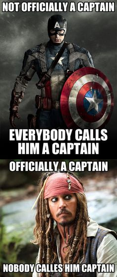 "Lol! ""Shouldn't there be a captain in there somewhere?"""