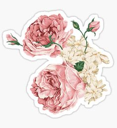 Rambling Rose Flowers Sticker