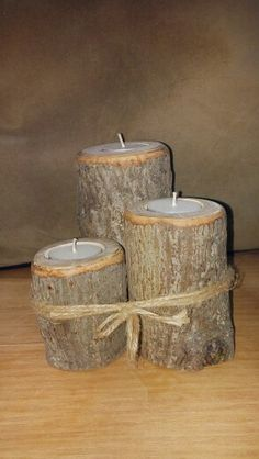 3 tier live edge candle holder
