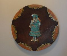 Vintage Brass Copper n Bronze Plate With Inca by tennesseehills, $33.00