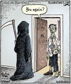 Zombeeez -undead, once living Bizarro Comic, Funny Cartoons, Funny Memes, Funny Art, It's Funny, Starwars, Halloween Cartoons, Halloween Humor, Halloween 2016