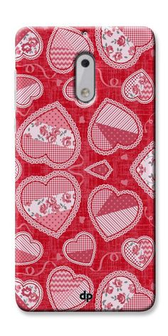 e788861d5f6 Digiprints Beautiful Pink Heart Design Printed Back Case Cover For Nokia 6