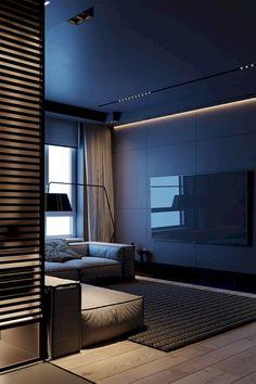 Home Room Design, Home Office Design, Modern House Design, Home Interior Design, Interior Architecture, Living Room Designs, Loft Design, Dark Interiors, Home And Deco
