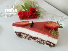 Meyveli Muhallebili Mozaik Pasta T5, Cheesecake, Desserts, Food, Tailgate Desserts, Deserts, Cheesecakes, Essen, Postres