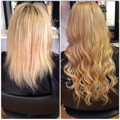Micro loop extensions before and after Micro Loop Hair Extensions, Hair Extensions Before And After, Damaged Hair, Pretty Hairstyles, Hair Extention, Hair Color, 19th Birthday, Long Hair Styles, My Style