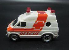 Vintage Aurora AFX Dodge Rescue Van HO Slot Car Red Medical A/FX Tyco Ambulance