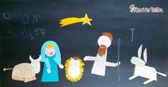 FIORI IN TESTA: CHRISTMAS time: il presepe col COLLAGE