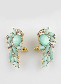 mint studs earring | jewelry | accessory