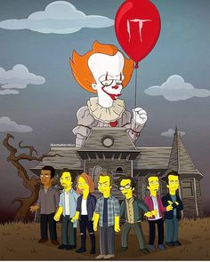 It Chapter Two - The Simpsons Style Stephen King It, Welcome September, Jay Bunyan, It The Clown Movie, Pennywise The Dancing Clown, The Dark Tower, Halloween Illustration, The Simpsons, Horror Stories