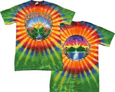 Grateful Dead - Waterfall Tie Dye T-Shirt A new eye catching design on both the front and back are featured on this Grateful Dead Tie Dye T-Shirt. Bright and colorful on a quality tie dye. Grateful Dead Merchandise, Grateful Dead Shirts, Hippie Lifestyle, Lifestyle Clothing, Hippie Shop, Everything Free, Tie Dye Outfits, Tie Dye Shirts, Tour T Shirts