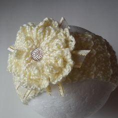 Baby Headband Crochet Headband Flower Headband by PaulitaCrafts