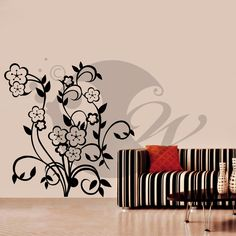 With this Lovely Flowers  Wall Sticker Decal you can decorate your walls in one of the most modern and elegant ways