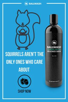 Squirrels shouldn't be the only ones concerned with nuts. Ballwash is an all-natural, cruelty-free body wash that gets you clean and keeps you smelling great. So whether it's for your everyday shower or after an intense workout, Ballwash has got you cover Cruelty Free Body Wash, Vegan Cruelty Free Skin Care, Oils For Scars, Intensives Training, Natural Body Wash, Intense Workout, Vegan Beauty, Essential Oils, Squirrels