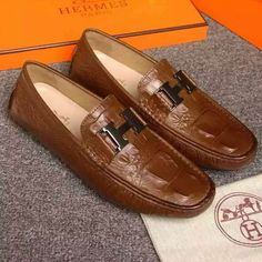 c112ec5f408d Hermes Driving Moccasins 984320 Brown Hermes Slippers