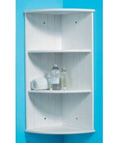 Living Corner Shelves with Tongue and Groove - White.