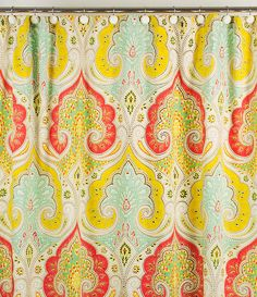 This is a shower curtain but I love the fabric!! Would love to use it for basement bedroom if/when we change it!