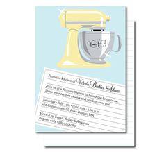 Kitchen Shower Bridal Invitations  Bride to Be  by PinkTexasPrint, $16.00