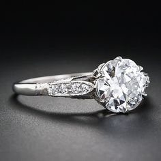 Vintage engagement ring. I like these older styles.
