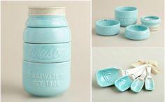 Medidores de cocina en forma de vaso de mason jarr