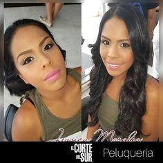 ¡Fin de semana!  El mejor momento para despertar toda tu belleza.   Este es un lindo #Look creado por nuestra talentosa estilista profesional Jessica Morales.   Visítanos,   ¡#Tenemostiempoparati!  #Maquillaje #MaquillajeElCortedelSur #Ondas #ElCortedelSurPeluqueria