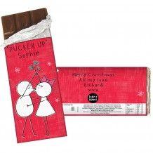 Personalised Purple Ronnie Mistletoe Couple Milk Chocolate Bar