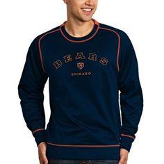 Chicago Bears Antigua Volt Crew Sweatshirt – Navy Blue