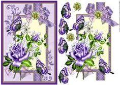 Scrap Card Roses & Butterflies