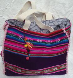 Bolso de Aguayo Reversible de combinado mexicano