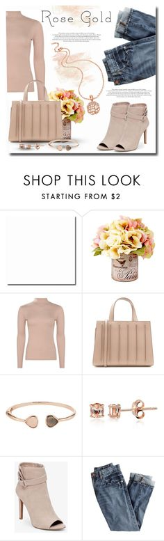"""Rose Gold"" by lasvegasmjb ❤ liked on Polyvore featuring Boohoo, MaxMara, Glitzy Rocks, BCBGeneration, J.Crew and Folli Follie"