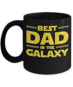 Best Dad in The Galaxy By Trinkets and Novelty 11-oz Star Wars Old Republic Jedi Knight Light saber Rebellion Rebel Alliance Sith Apprentice Coffee Mug Tea Cup is Perfect Star Wars Merchandise Gift