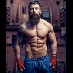 Physique and cool beard Great Beards, Awesome Beards, Best Beard Styles, Hair And Beard Styles, Beard Pictures, Rugged Men, Beard Love, Beard Tattoo, Tattoo Ink