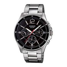 Casio For Men Black Dial Stainless Steel Band Watch - Analog, Japanese Quartz Casio G-shock, Casio Watch, Cool Watches, Watches For Men, Men's Watches, Wrist Watches, Jewelry Watches, Mens Watches Online, Mo S