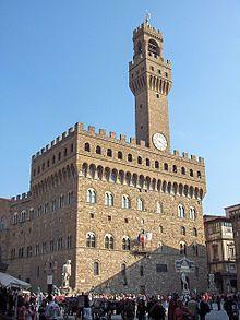 Florencia - El Palazzo Vecchio, en la Plaza de la Señoría.