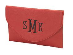 Monogrammed Clutch 11 L x 7 H Leather Like Material Magnetic Snap Closure Inside Beautifully Lined Detachable Wristlet and Crossbody Chain Included Carry it 3 ways!  Whether its a night on the town or kicking it during the day, you will be the envy of everyone with this beautiful purse. Elegant and sophistic...